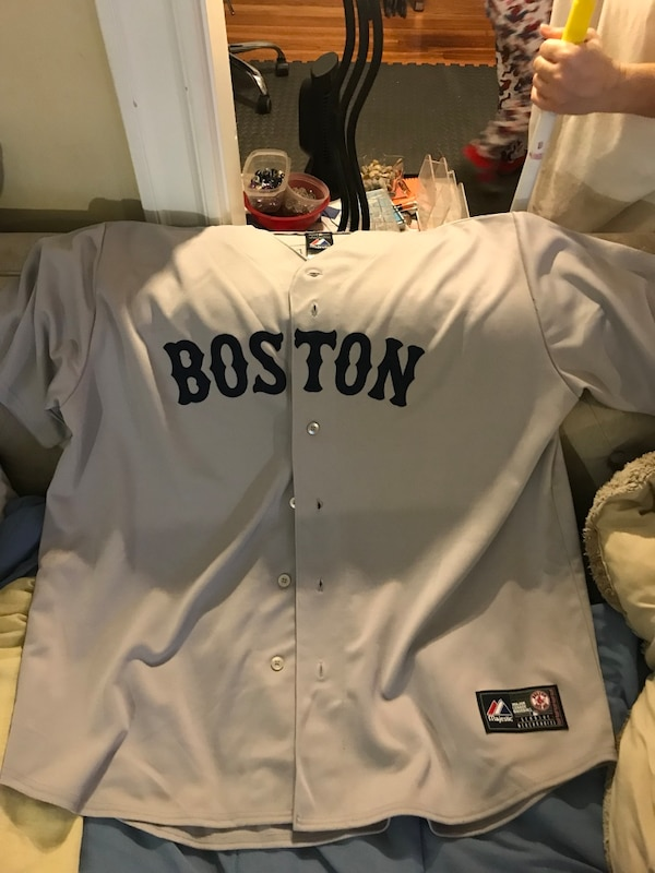 finest selection 39e92 9dc1e Boston Red Sox authentic grey and blue Jon Lester jersey new never worn  great shirt awesome Jon Lester 100.00