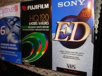 VHS blank tapes Toronto