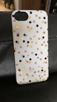 white and pink polka dot iPhone case Gladwin, 48624
