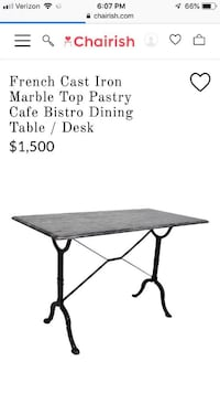 Two STUNNING Imported French Granite Tables Potomac