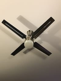 Designer ceiling fan 48 inches polished nickel (2 available) Washington, 20001