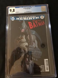 ALL STAR BATMAN #1 GRADED AND ENCAPSULATED BY CGC 9.8 NONE HIGHER ON CGC REGISTRY ! Los Angeles, 91423
