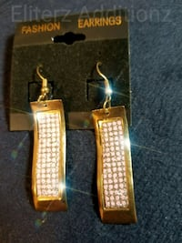 Gold/Pink Earrings  Mission, 78572