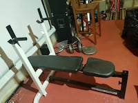white and black weight bench Calgary, T2Z 4S4