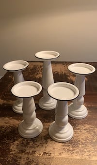 Candle Stick Holders-White