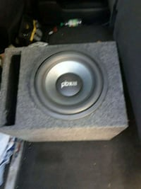 gray and black subwoofer speaker Bastrop, 78602