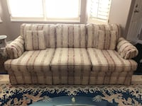 Gray and white floral fabric 3-seat sofa Richmond, V7C 5P7