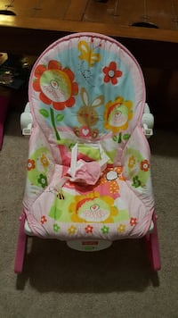 baby's pink Fisher-Price animal themed bouncer Atwater, 95301