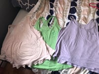 3 pyjama tops 15$ together pink XL green & Purple L Laval, H7S 1Y3