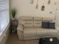 Two sided leather recliner. Gretna