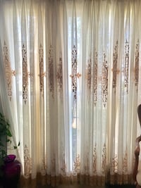 Custom Lace gold and off white curtains Ashburn, 20147