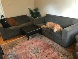 Two Used Room and Board Couches