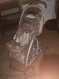 baby's gray and white stroller Calgary, T1Y 3S5