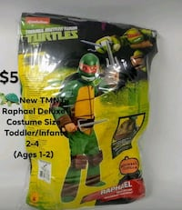 New TMNT Deluxe Costume Ages 1-2 Frederick, 21701