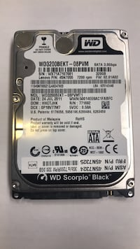 WD scorpio black guaranteed to work or return for refund in 30 days  Vaughan, L6A 1W9