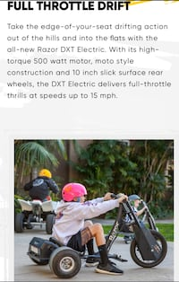 RAZOR DXT Electric Drift Trikes