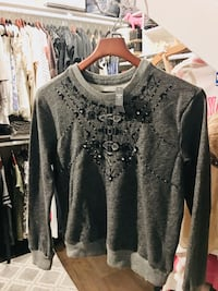 New Abercrombie & Fitch Grey Embellished Sweater Beaumont, 92223