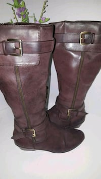 pair of brown leather knee-high boots Alexandria, 22306