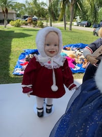 Porcelain doll in red winter outfit Port Saint Lucie, 34984