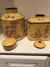 Pair of Decorative containers by Toyo