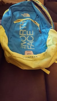 Neon North Face Backpack