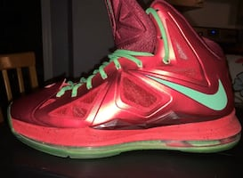 "New LeBron X ""Christmas"" size 12"