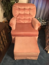 Two Swivel Chairs with Stools