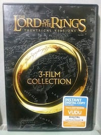 The Lord of the Rings 3 film collection dvd