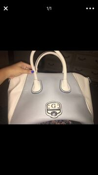 gray and white Guess leather handbag screenshot Brownsville, 78521