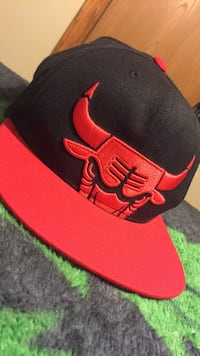 Black and red chicago bulls SnapBack hat Grand Island