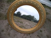 round brown wooden framed mirror Edinburg, 78542