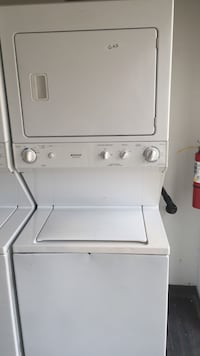 Used Washer And Gasss Dryer Stack Set Free Delivery For