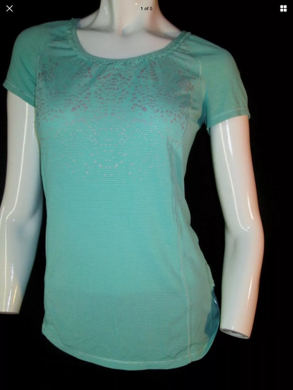 Lululemon 4 run wild top heathered menthol reflective run silverescent