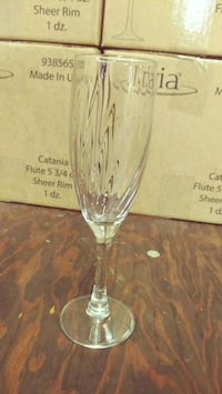 13 CASES OF CHAMPAGNE GLASSES Lawrence, 01841