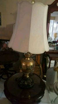 white and brass table lamp Miami, 33157