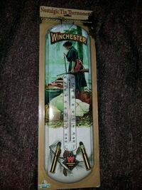 WINCHESTER INDOOR OUTDOOR TIN THERMOMETER