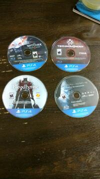 four assorted PS4 game discs Chatham-Kent, N7L 4P6