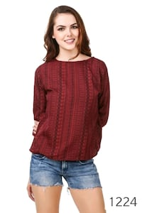 women's red long sleeve shirt Mumbai, 400011