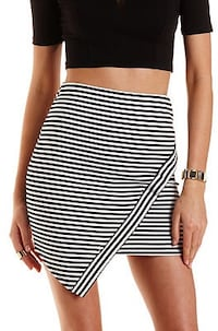 Striped Asymmetrical Mini Skirt Kalamazoo, 49001