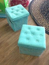 New Folding Ottoman sit and Store Foot Stool Storage Hawaiian Gardens