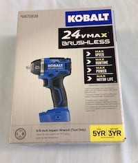 """BRAND NEW Kobalt 0672828 Cordless impact wrench 24-Volt max 3/8"""" drive (tool only)  Wethersfield, 06109"""
