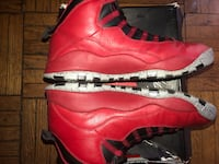 pair of red Air Jordan 11's Washington, 20018