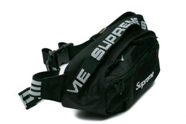 07062354b7c Used SUPREME SS18 Reflective BLACK Waist Bag Fanny Pack for ...