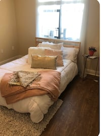 Queen mattress box spring frame and headboard LIKE NEW Tampa