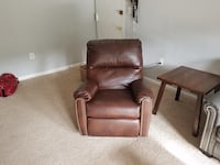 Brown leather recliner sofa chair Fairfax