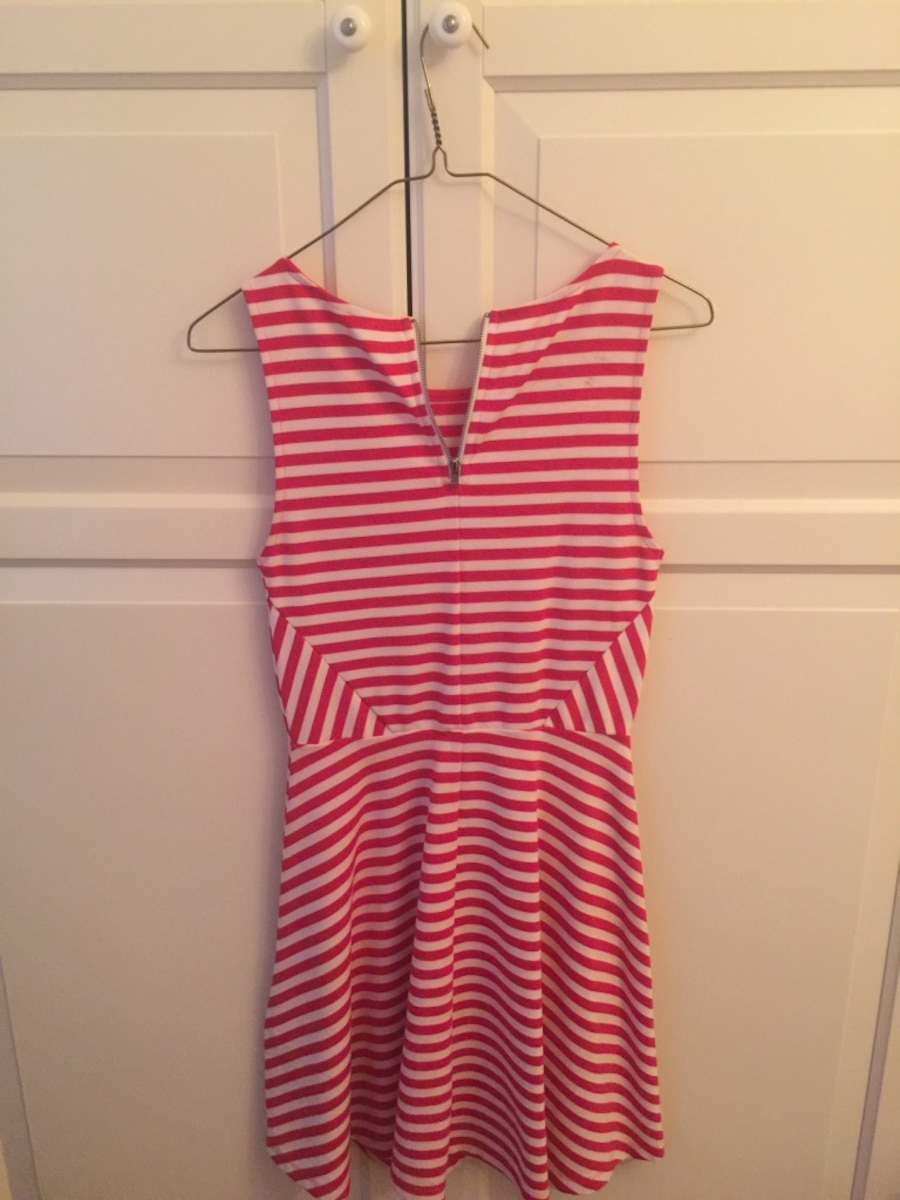 women's red and white striped sleeveless dress - Montreal