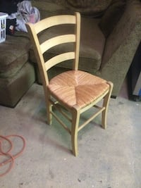 Solid Wood and Wicker Chair