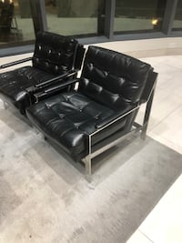black leather padded sectional sofa 3748 km