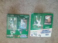 two Starting Lineup football action figures in box