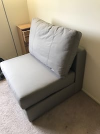 Single couch armless chair